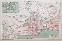 Singapore Town City Map 1900s